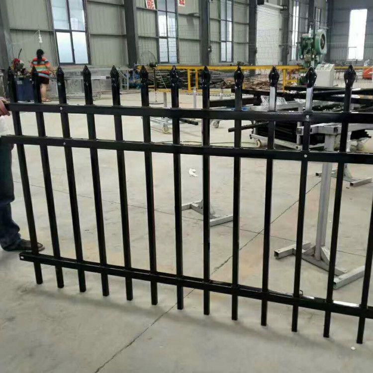 众赢护栏厂家直销小区锌钢围墙栅栏 厂区围墙